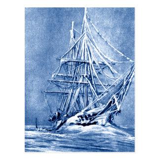 Icy Ship Postcard