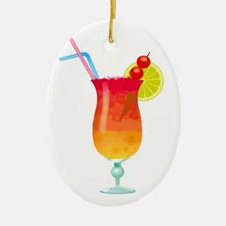 Icy Tropical Rum Punch Christmas Tree Ornaments