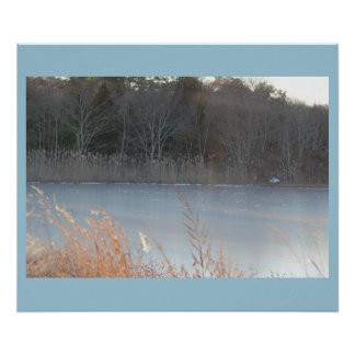 Icy Water Scene at the Refuge Photo Poster
