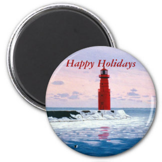 Icy Waters Happy Holidays Magnet