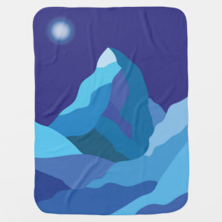 Icy winter Matterhorn mountain Baby Blanket