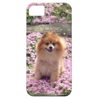 ID/Credit Card iPhone 5 Pomeranian Pink Flowers iPhone 5 Cover
