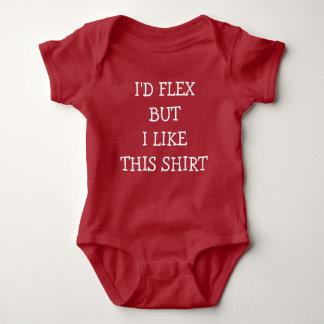 I'd Flex I like this shirt funny baby boy