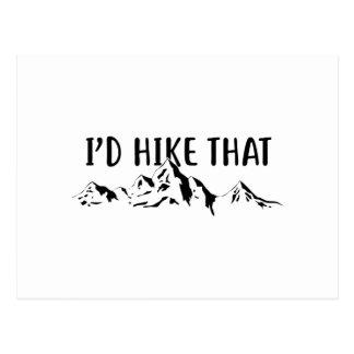 I'd Hike That Postcard