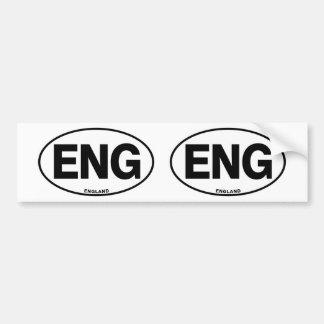 ID Oval ENG England Bumper Sticker