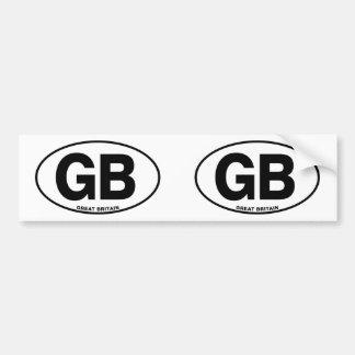 ID Oval GB Great Britain Bumper Sticker