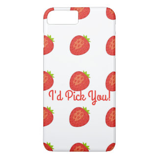 """I'd Pick You!"" Strawberry IPhone 7+ Barely There iPhone 8 Plus/7 Plus Case"