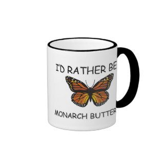 I'd Rather Be A Monarch Butterfly Coffee Mugs