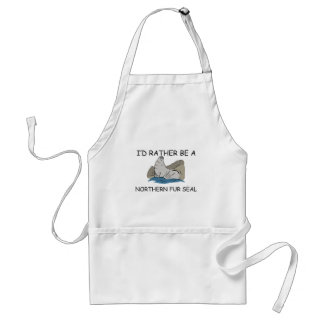 I'd Rather Be A Northern Fur Seal Adult Apron