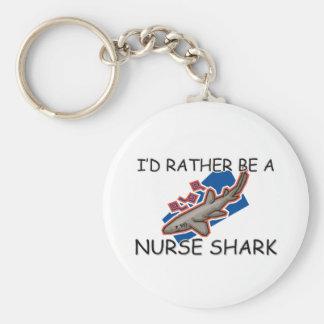 I'd Rather Be A Nurse Shark Key Ring