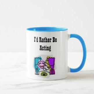 I'd Rather Be Acting w/KBP on back Mug