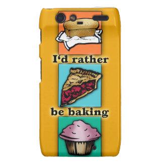 I'd Rather be Baking Pop Art Phone Case Droid RAZR Covers