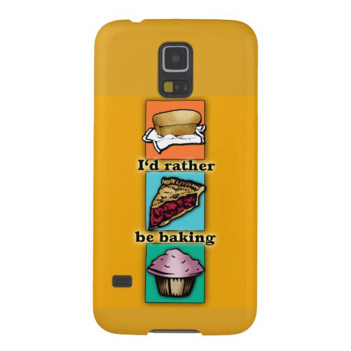I'd Rather be Baking Pop Art Phone Case Galaxy S5 Covers