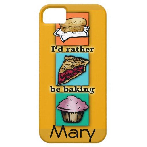 I'd Rather be Baking Pop Art Phone Case iPhone 5 Case
