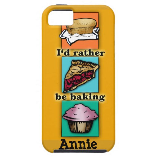 I'd Rather be Baking Pop Art Phone Case iPhone 5/5S Cover