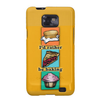 I'd Rather be Baking Pop Art Phone Case Samsung Galaxy SII Cases