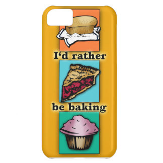 I'd Rather be Baking Pop Art Phone Case iPhone 5C Cases