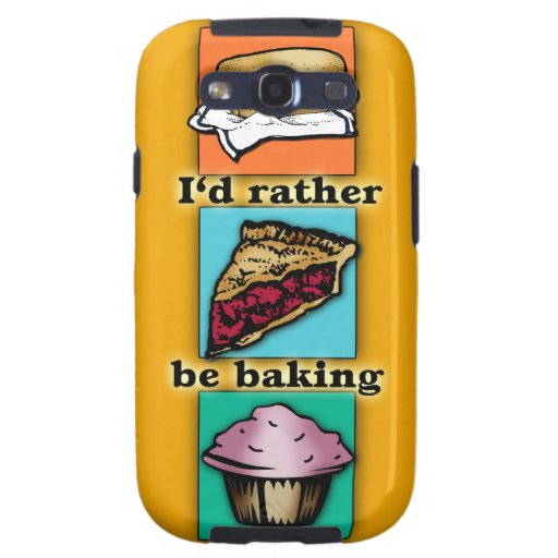 I'd Rather be Baking Pop Art Phone Case Galaxy S3 Covers