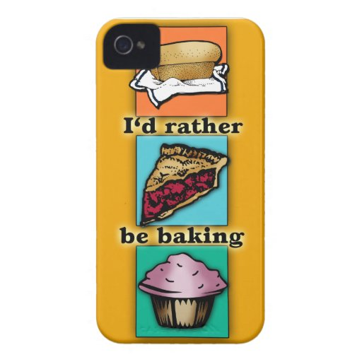 I'd Rather be Baking Pop Art Phone Case iPhone 4 Covers