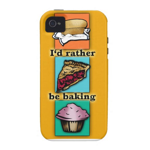 I'd Rather be Baking Pop Art Phone Case iPhone 4/4S Covers