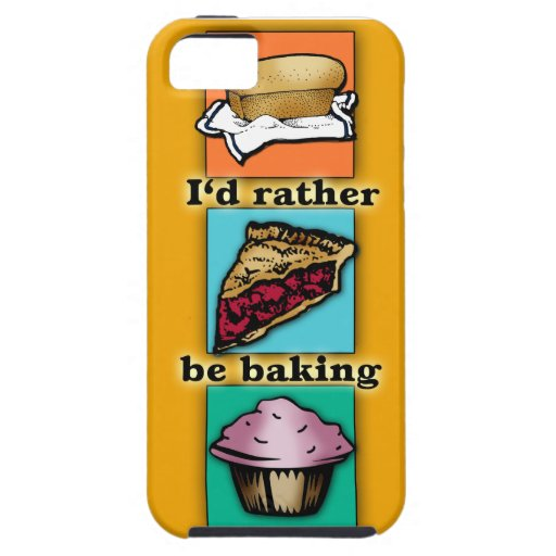 I'd Rather be Baking Pop Art Phone Case iPhone 5/5S Covers