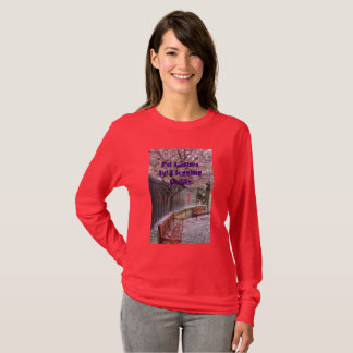 I'd Rather Be Blogging Today T-Shirt Pink Blossoms