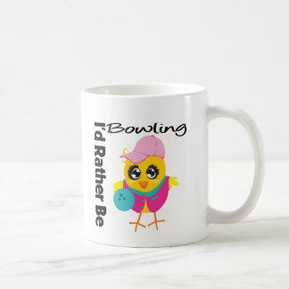 I'd Rather Be Bowling Basic White Mug