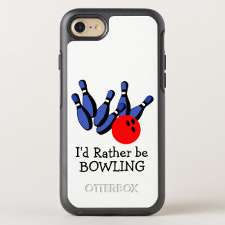 I'd Rather be Bowling, Custom OtterBox Symmetry iPhone 8/7 Case