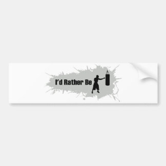 I'd Rather Be Boxing Bumper Sticker