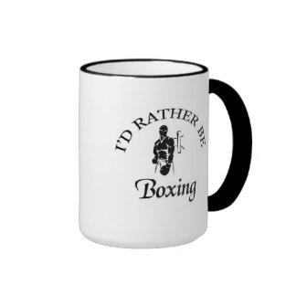 I'd rather be boxing ringer mug