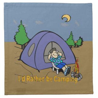 I'd Rather Be Camping - Camp Scene American MoJo C Cloth Napkin