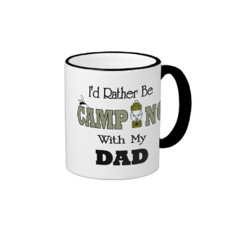 I'd Rather Be Camping  with Dad Ringer Mug