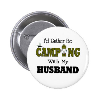 I'd Rather Be Camping  with My Husband 6 Cm Round Badge