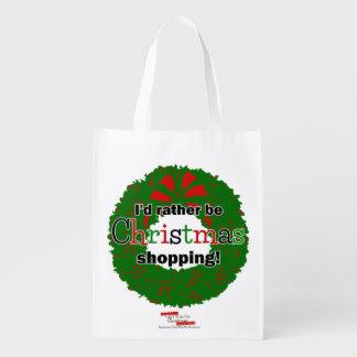 I'd Rather Be Christmas Shopping Reuseable Bag