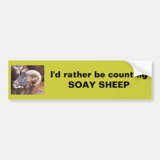 I'd rather be counting SOAY SHEEP Bumper Sticker