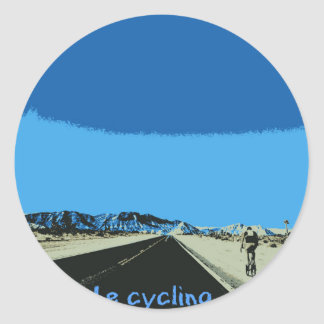 id rather be cycling classic round sticker