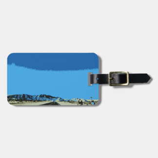 id rather be cycling luggage tag