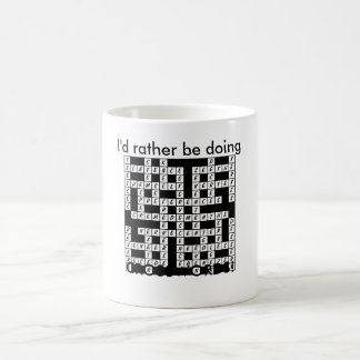 I'd Rather be Doing Crosswords! Coffee Mug