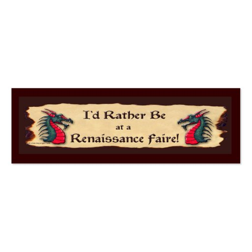 I'd rather be Faire Dragon Business Card Template