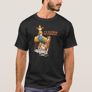 'I'd Rather Be Farming' Online Game T-Shirt