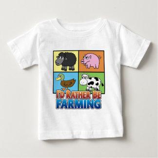 I'd rather be farming! (virtual farmer) t shirts
