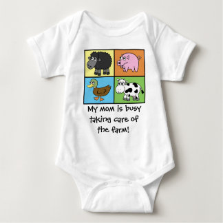 I'd Rather be Farming! (virtual farming) Baby Bodysuit