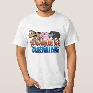 I'd Rather be Farming! (virtual farming) Tees