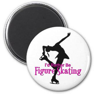 """I'd Rather Be Figure Skating"" 6 Cm Round Magnet"