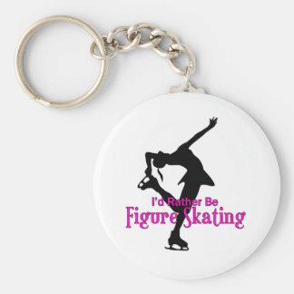 """I'd Rather Be Figure Skating"" Key Ring"