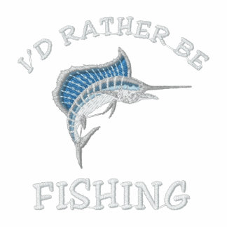 I'd rather be fishing embroidered polo shirts
