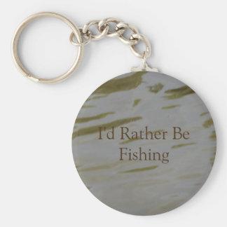 I'd Rather Be Fishing Key Ring