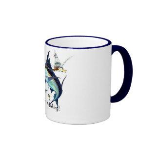 I'd rather be fishing! ringer mug