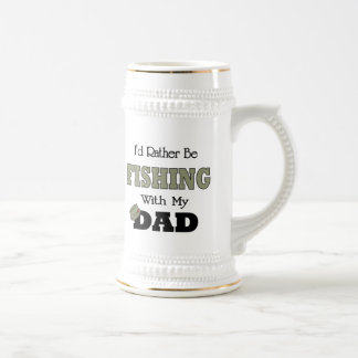 I'd Rather Be Fishing  with Dad Coffee Mugs
