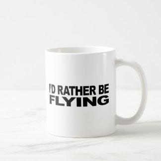 I'd Rather Be Flying Basic White Mug